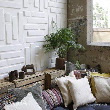 mur 3d bricks wallart