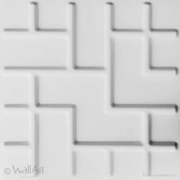 panneau 3d wallart tetris