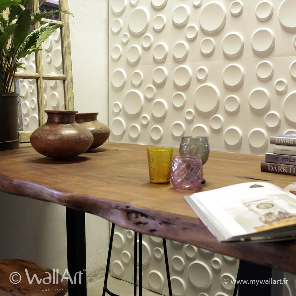 panneau mural 3d craters panneau mural 3d wallart panneau d coratif mur 3d wall art. Black Bedroom Furniture Sets. Home Design Ideas
