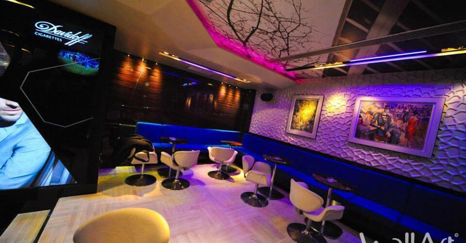 Décoration bar avec les panneaux 3d