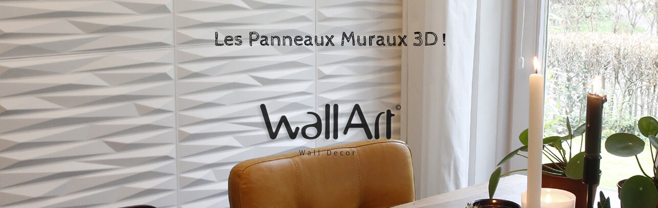 panneau mural 3d panneau d coratif 3d wallart la marque originale. Black Bedroom Furniture Sets. Home Design Ideas