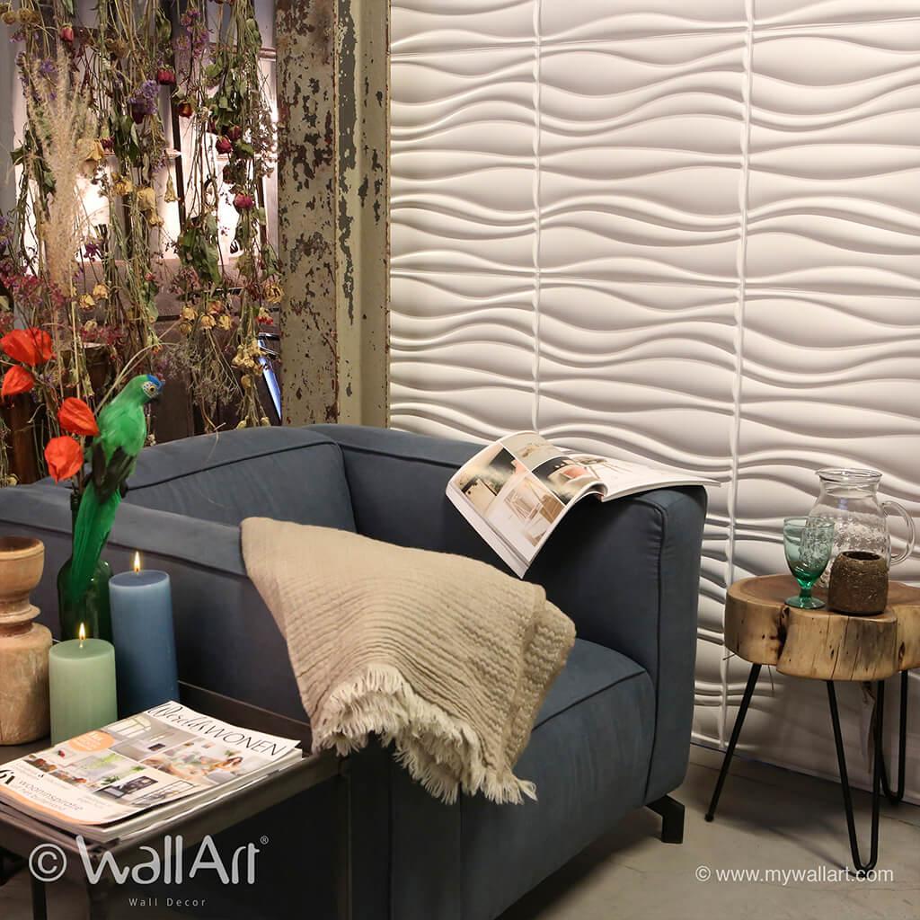 Panneau Mural 3D WAVES | Panneau Mural 3D WallArt : panneau ...