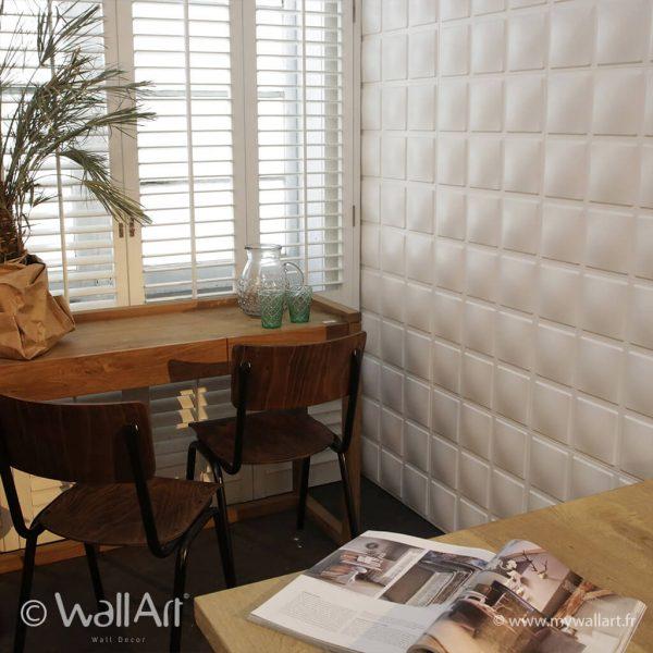 revetement mural wallart cubes