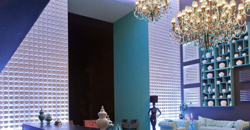 Décoration showroom avec les panneaux muraux 3d