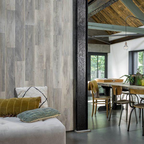 lambris pvc imitation bois gris